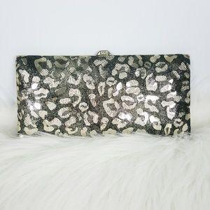 Lodis Gold Black Leopard Clutch Wallet